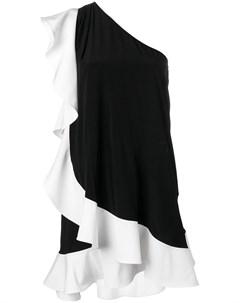 Платье на одно плечо с оборками Givenchy