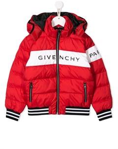Куртка пуховик с логотипом Givenchy kids