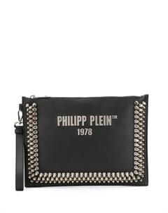 Клатч с заклепками и логотипом Philipp plein