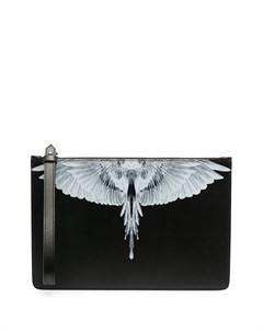 Клатч с принтом Wings Marcelo burlon county of milan