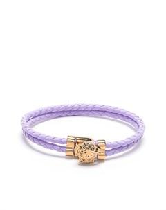 Двойной плетеный браслет с декором Medusa Versace