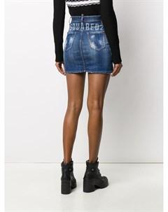 Джинсовая юбка с логотипом Dsquared2
