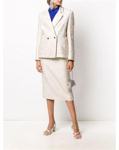 Приталенный пиджак с вышивкой Alessandra rich
