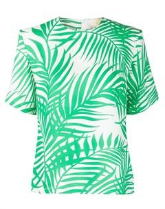 Креповая блузка с принтом Sara battaglia