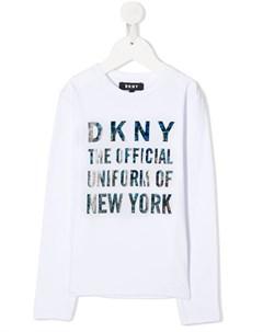 Топ с длинными рукавами и логотипом Dkny kids