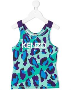 Топ без рукавов с леопардовым принтом Kenzo kids