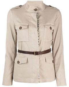 Куртка рубашка с поясом Bazar deluxe