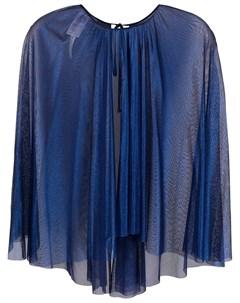 Полупрозрачная блузка кейп Maria lucia hohan