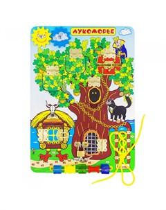 Деревянная игрушка Бизиборд Лукоморье ББ212 Alatoys