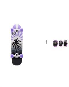 Скейтборд Круизер Sunset и комплект защиты PW 306 Moove Fun Plank