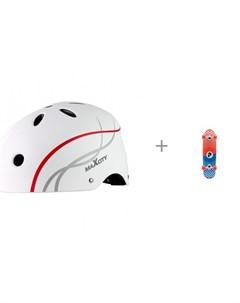Шлем Roller Liner и скейтборд Круизер Dots Plank Maxcity
