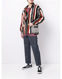 Пуловер из шерпы с воротником на молнии Pleasures