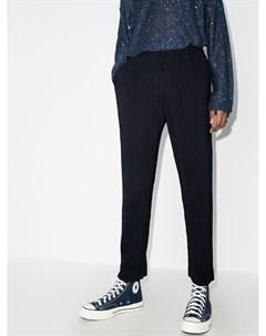 Плиссированные брюки прямого кроя Homme plissé issey miyake
