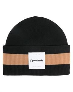 Вязаная шапка бини в полоску Reebok x victoria beckham