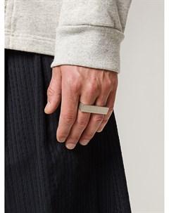 Двойное серебряное кольцо Maison margiela
