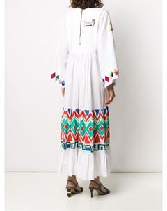 Платье кимоно с геометричным принтом Mira mikati