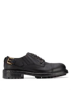 Туфли дерби с пряжками Dolce&gabbana