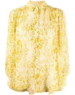 Рубашка с леопардовым принтом Anine bing