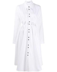 Платье рубашка длины миди с длинными рукавами Palmer / harding