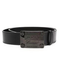 Ремень с пряжкой логотипом Moschino