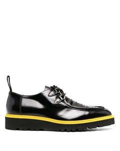 Туфли на шнуровке с перфорацией Moschino