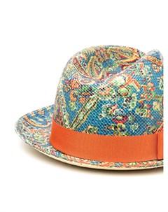 Шляпа федора с принтом пейсли Etro
