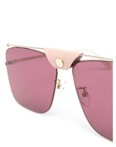 Солнцезащитные очки авиаторы в квадратной оправе Alexander mcqueen eyewear