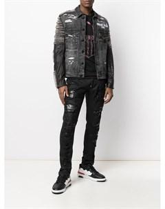 Джинсовая куртка с заклепками Philipp plein