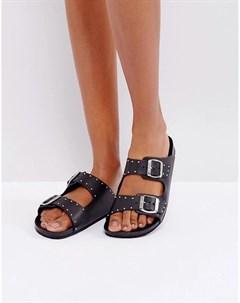 Кожаные сандалии в стиле вестерн с заклепками Sixtyseven
