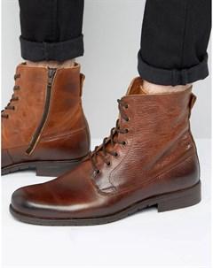 Кожаные ботинки на шнуровке Zign