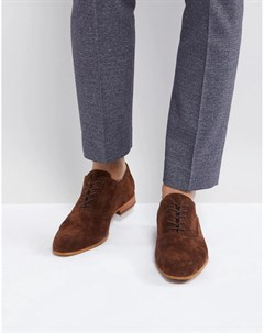 Коричневые замшевые туфли на шнуровке Zign