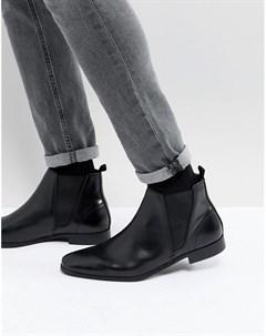 Черные кожаные ботинки челси Zign