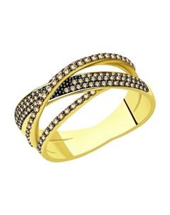 Кольцо из желтого золота с бриллиантами Sokolov
