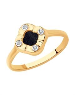Кольцо из золота с бриллиантами и авантюрином Sokolov