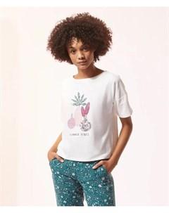 Хлопковая футболка летнее настроение ABEL Etam