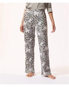 Атласные брюки с растительным принтом IAN Etam