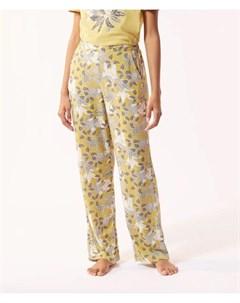 Атласные брюки с растительным принтом ILMA Etam