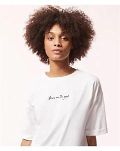 Хлопковая футболка думаю о хорошем INAE Etam