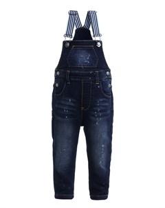Трикотажный джинсовый полукомбинезон Gulliver Gulliver baby