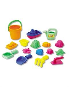 Набор 16 игрушек для песочницы в сетке Keenway