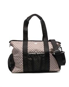 Пеленальная сумка с монограммой Emporio armani kids