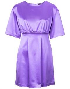 Атласное платье мини со сборками Cynthia rowley