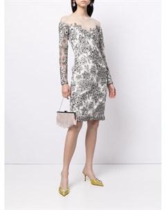 Платье Yuki с цветочной вышивкой Tadashi shoji
