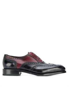 Двухцветные броги на шнуровке Salvatore ferragamo