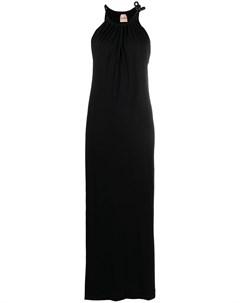 Платье с вырезом халтер Nude