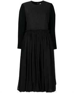 Платье со вставками и присборенной юбкой Comme des garcons