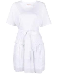 Платье футболка с оборками Ermanno ermanno
