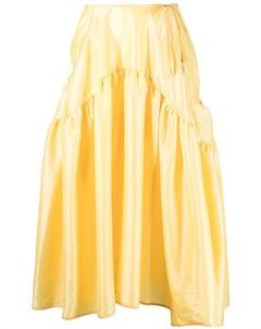 Расклешенная юбка миди с завышенной талией Cecilie bahnsen