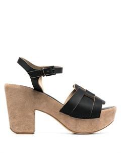 Босоножки на блочном каблуке Del carlo