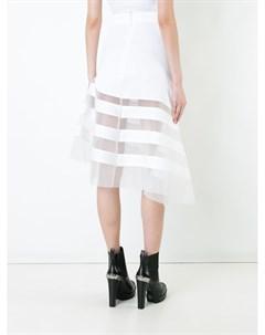Полупрозрачная юбка со вставками Robert wun